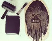 Chewbacca Woodcut Sculpture Print