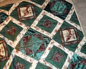 Time for Hunting and Then Getting Cozy Under This Extra Long Queen Sized Hand Quilted Pheasant and Grouse Quilt