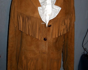 Great Gift for Christmas -This Beautiful  SIMCO Leather Jacket with The Fringe on The Top, The Bottoms, and The Sleeves