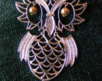MOD 70's Articulated Movement OWL Pendant