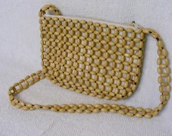 On Sale Wooden Bead Purse, Handbag