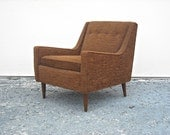 SOLD on layaway Mid Century Lounge Chair Tweed Mad Men Dunbar Wormley Era