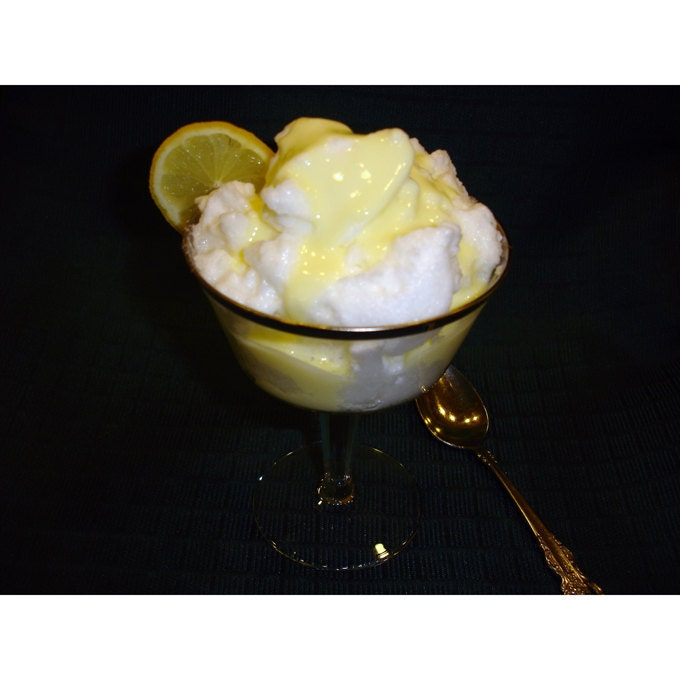 recipe: snow pudding with custard sauce [1]