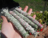 Handcrafted Wild Minnesota Sage Sacred Smudge Stick Bound with Natural Hemp or Bamboo Rope