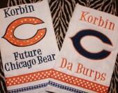 Set of 2 Chicago Bears Burp Cloths