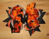 "3"" Size: Black Cat Boutique Hair Bow for Halloween"