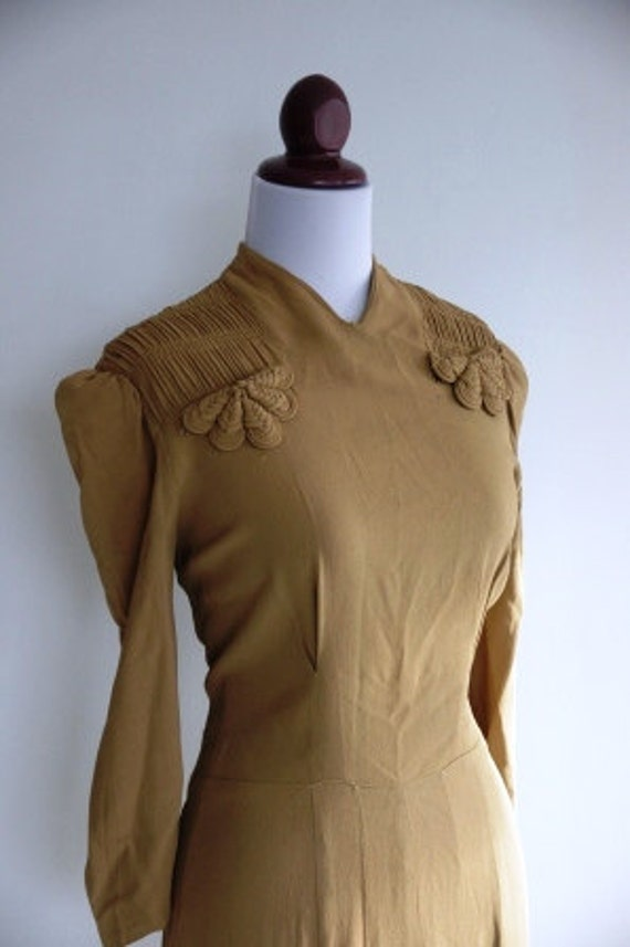 40s gold swing dress