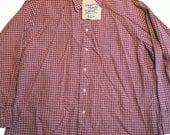 Vintage Light Plum Checkered Christian Dior Button Down Shirt