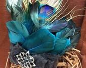 Peacock Feather Fascinator Headband