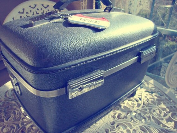 American Tourister Navy Train Case