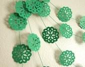 Green Paper Garland - Christmas Garland - Baby Shower Garland - Green Mountain