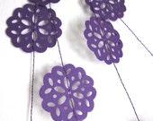 Lace Garland - Purple Garland - Purple Decoration - Paper Garland - Plum Pudding