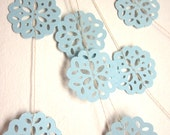 Paper Garland - Snowflake Garland - Blue Christmas Garland - Cold as Ice
