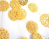 Bridal Shower Decoration- Yellow Garland - Paper Garland - Party Garland - I've Got Sunshine
