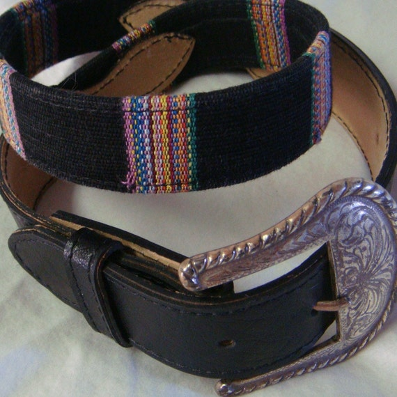 Wrap Me In A Southern Rainbow Belt with Silver Buckle
