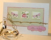 Butterfly & Rose Stamp Card