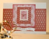 Red & Pink Star Card