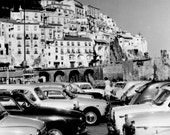 Vintage Amalfi Coast Photography, Amalfi Coast Photos, Italy Photography, Black and White Photography, Vintage Italy Wall Art