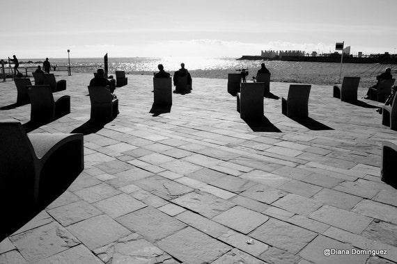 Barcelona, Barcelona Photos, Beach Photography, Black and White Prints, Barcelona Spain, Travel Photography,