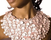 Bridal Wedding Butterfly Bib Necklace in Gorgeous Pink
