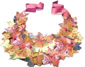 Statement Butterfly Bib Necklace in Fall shades as seen on Vogue.