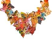 Gold Butterfly Bib Statement Necklace Fall Jewelry