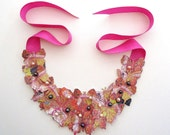 Bib Statement Butterfly Necklace with fresh water pearls