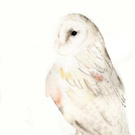 Owl Painting - Original Watercolor