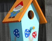 Small Bird House - Garden Gnomes and Mushrooms