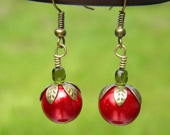 Tomato Earrings