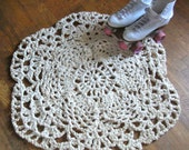 RESERVE FOR BIDBUM - Small size Pineapple Doily Rug