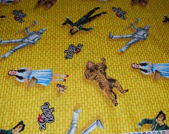 Wizard of Oz Yellow Brick Road Fabric by Quilting Treasures