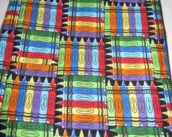 Nook Color Nook Cover Black with Rainbow Colored Crayons