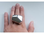 Sale Large Geometric Chunky Ice ring