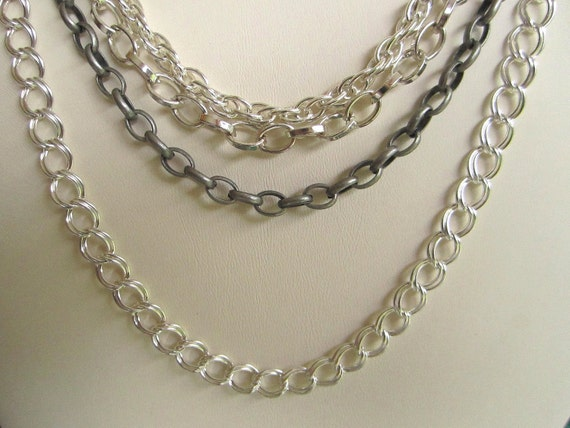 Gunmetal Chain for Mix and Match Convertible Necklace