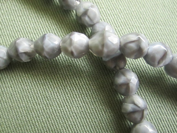 Grey over Crystal Beads for Converible Necklace