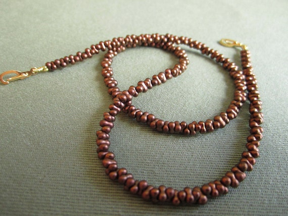 Brown Farfalle Beads for Convertible Necklace
