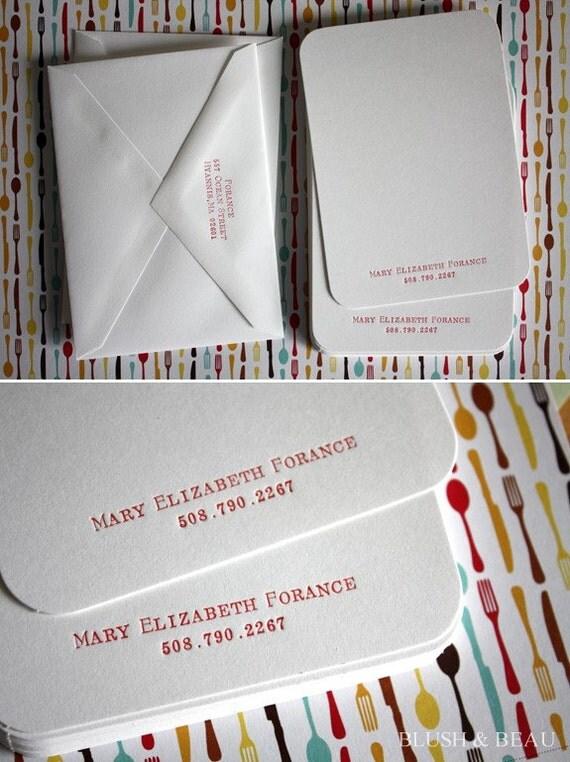 Custom Letterpress Stationary