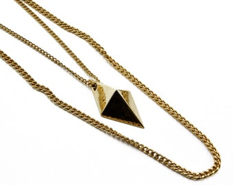 ON SALE // Vintage Gold Geometric Stunner Layered Necklace