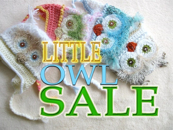 Baby Owl Hat Sale/any color pictured.