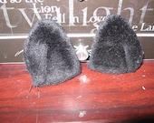 Small black cat ears