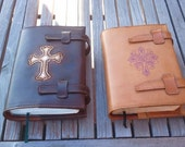 Embroidered Leather Bible Cover
