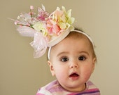 "Baby Hat, ""Fancy Nancy"" Theme Fascinator Hat - use for  Easter, Spring, Photo Prop - Amarmi"