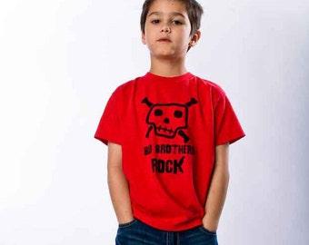 Big Brother Shirt - Big Brothers Rock T-Shirt   (Black Ink) Pregnancy Announcement