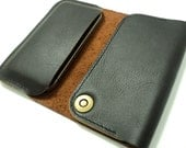 100% Premium Italian leather iPhone 4 case & wallet
