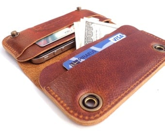 iPhone 4 case - brown leather