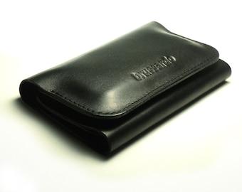 iPhone 4 case- black leather