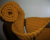 SALE Mustard Wool Scarf with FREE GIFT