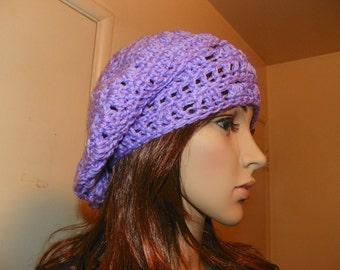 Beret  Lavender Slouch Hat  Tam Hat