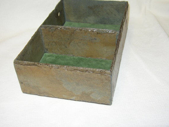 Handmade Dresser Tray,, made of recycled 80 yr. old slate tile.  DT-1